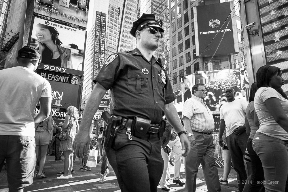 """Patrol"" Times Square, New York City. © 2014 Harold Green."