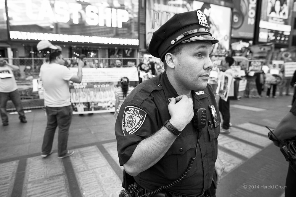 """Vigilant"" Times Square, New York City © 2014 Harold Green."