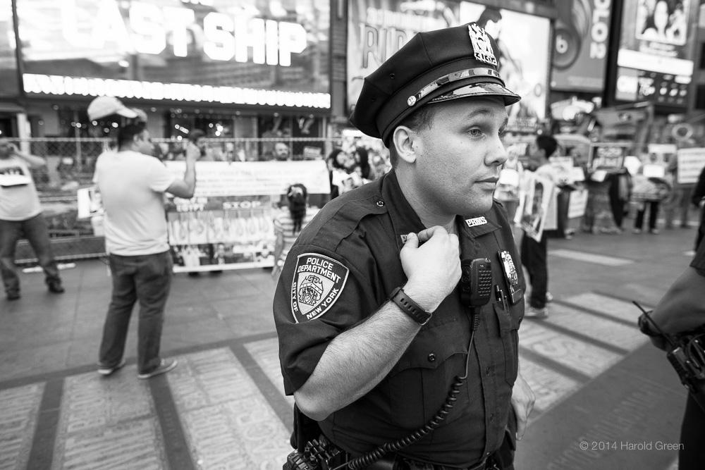 """Vigilant"" Times Square, New York City © 2014 Harold Green."