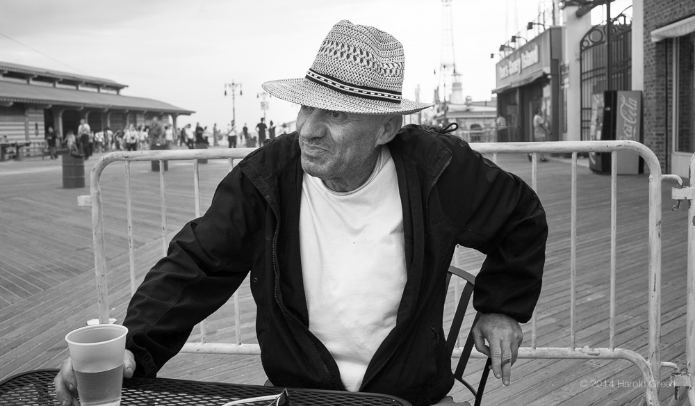 """Content"" Coney Island, Brooklyn © 2014 Harold Green."