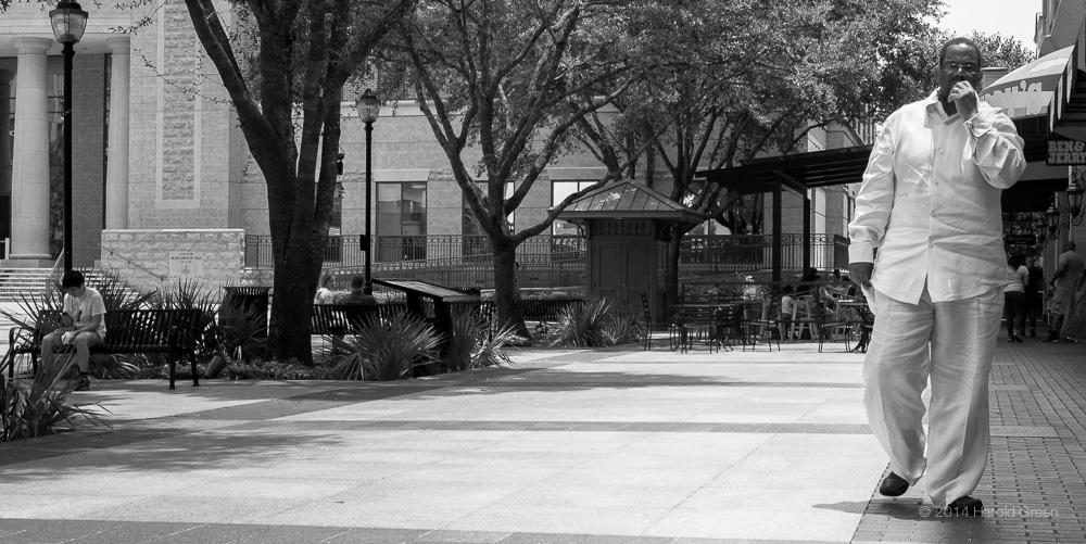 """Walk"" Sugar Land Town Square, Houston TX © 2014 Harold Green."