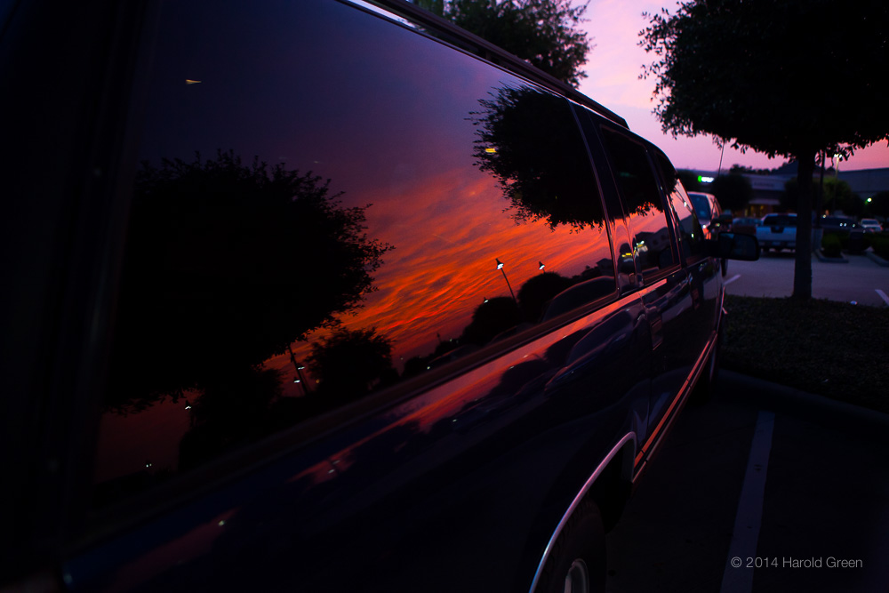 """Suburban Sunset"" Houston, Texas © 2014 Harold Green."