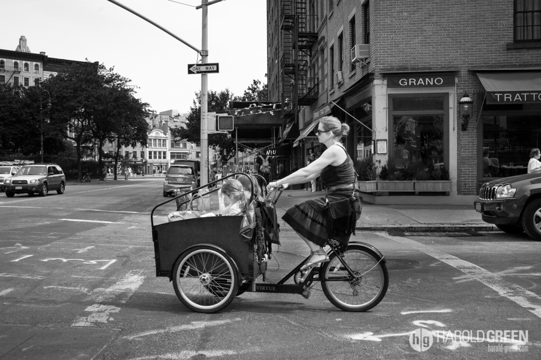 """Mom-Taxi"" Greenwich Village, New York City © 2014 Harold Green."