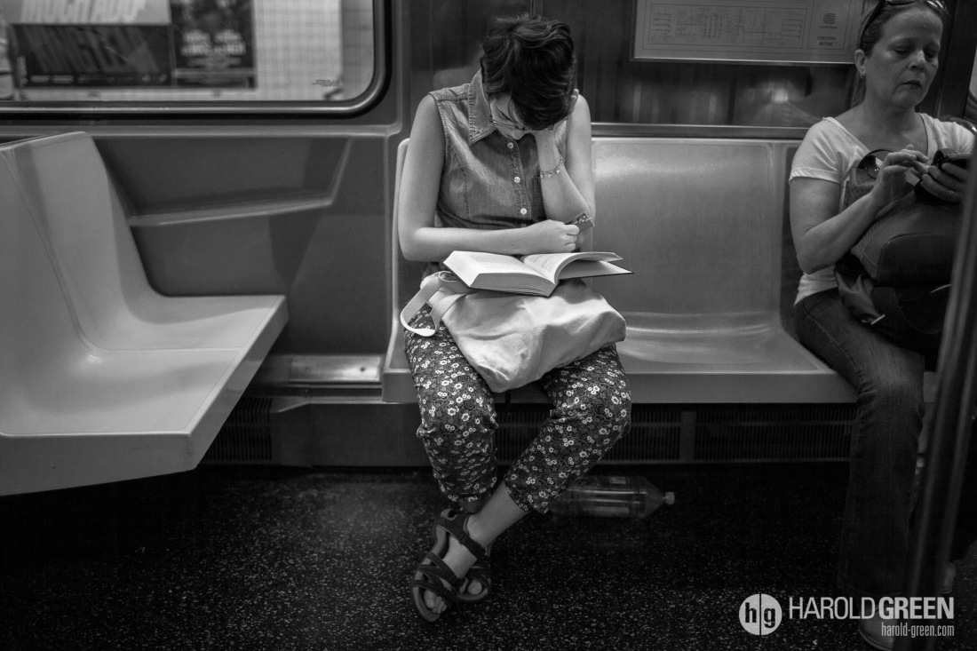 """Fully Engrossed"" New York City © 2014 Harold Green."