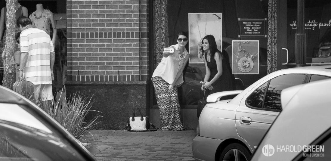 """""""Selfie"""" Sugar Land Town Square, Houston TX © 2014 Harold Green."""