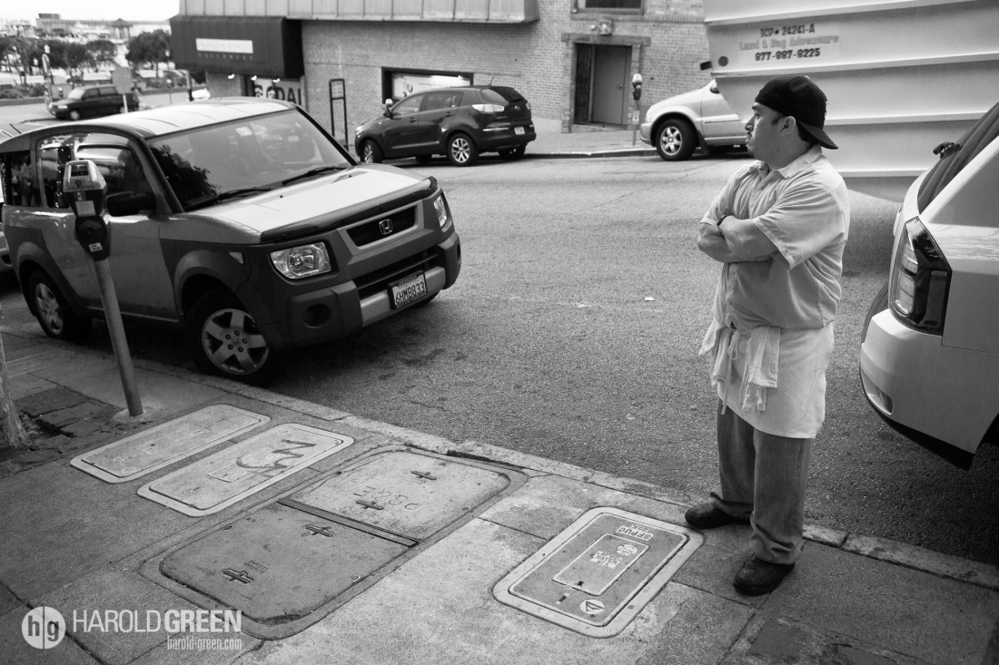 """Ponder"" San Francisco, California © 2014 Harold Green."