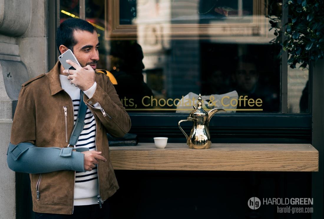 """Sunday Morning Coffee"" London © 2015 Harold Green."