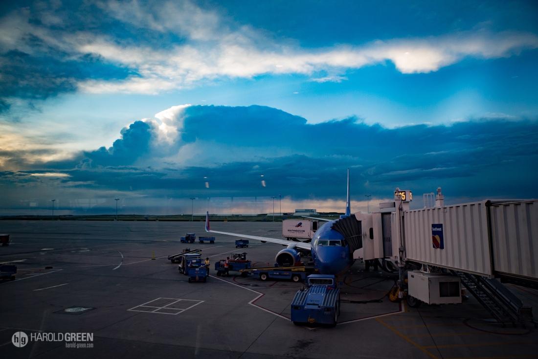 """""""Thunderous Evening"""" Denver © 2015 Harold Green."""