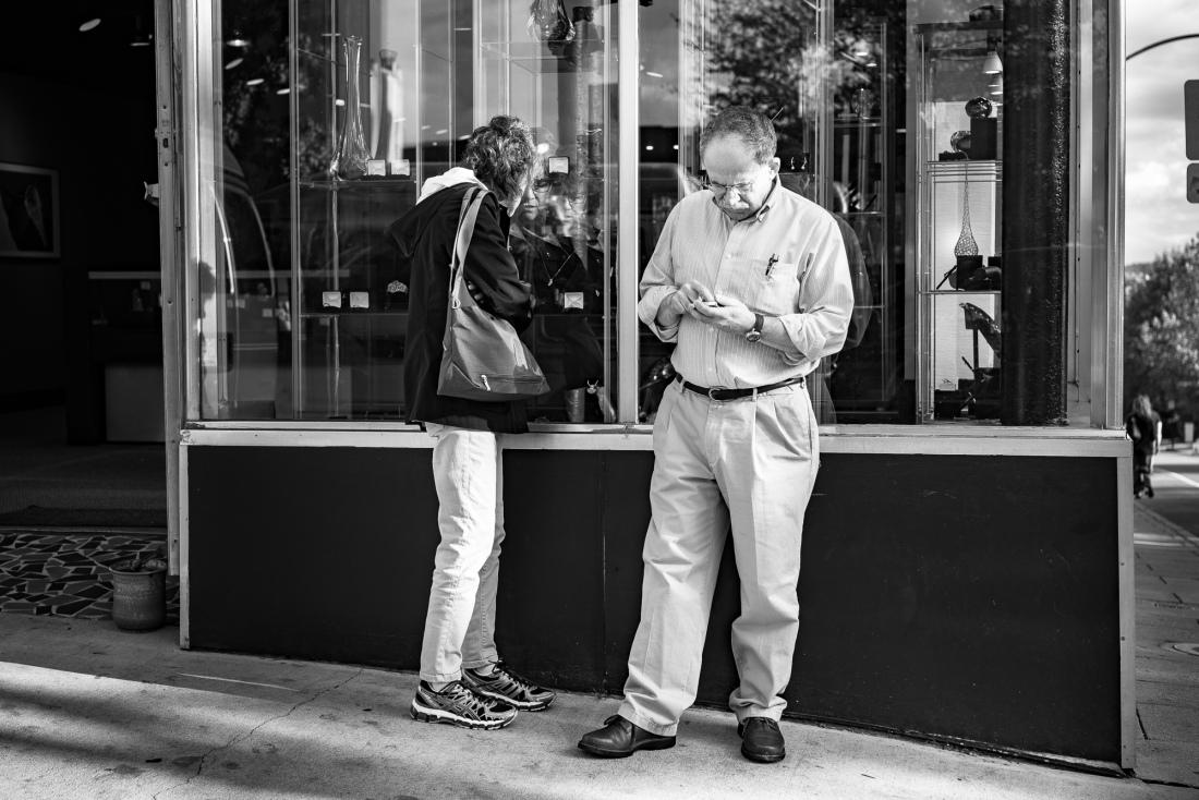 """Shopping"" Asheville, NC © 2015 Harold Green."