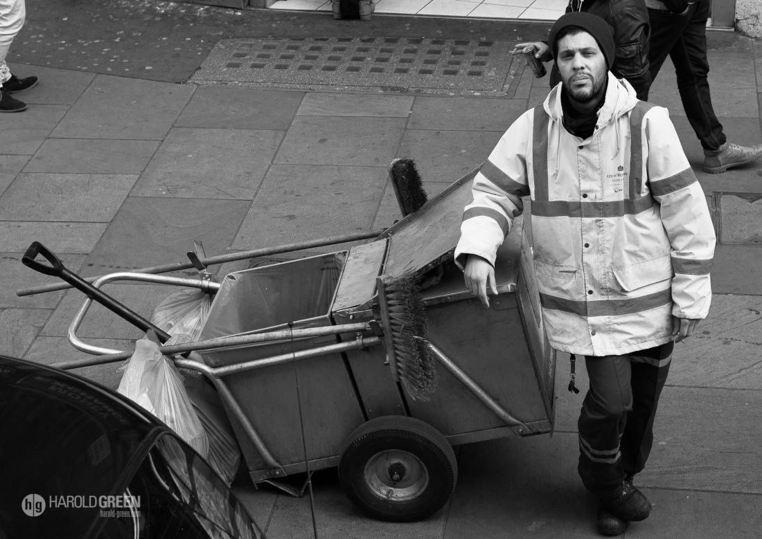 """Street Sweeper"" London, UK © 2016 Harold Green."