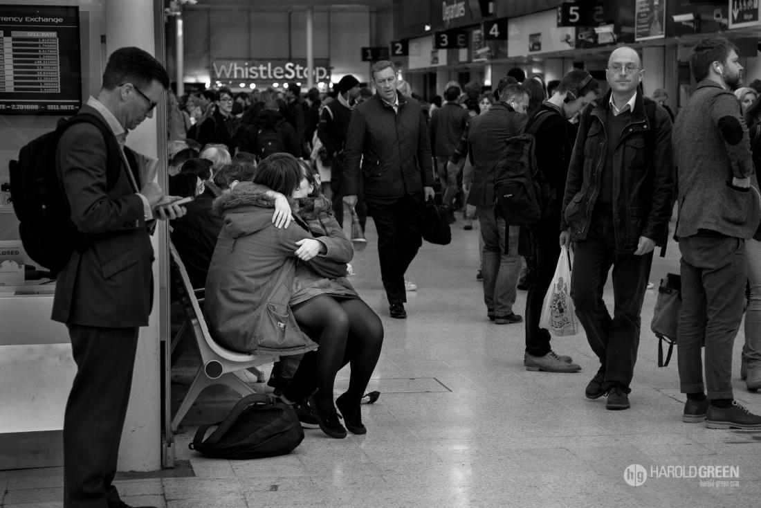 """PDA"" London Waterloo Station, UK © 2016 Harold Green."